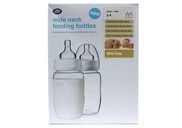 Wide neck feeding bottles